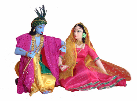 Radha - Krishna (Deities - 298) Indian deities miniature statues of Radha Krishna