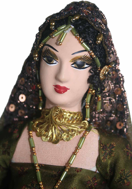 Designer Doll - 203 Designer Doll with indian ethnic costumes